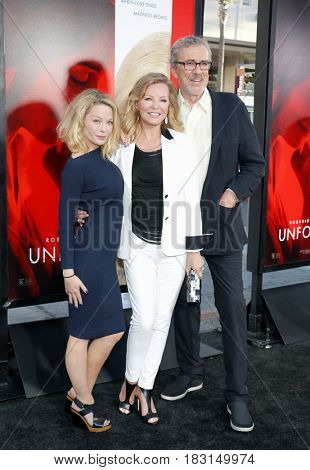 Cheryl Ladd, Brian Russell and Jordan Ladd at the Los Angeles premiere of 'Unforgettable' held at the TCL Chinese Theatre in Hollywood, USA on April 18, 2017.