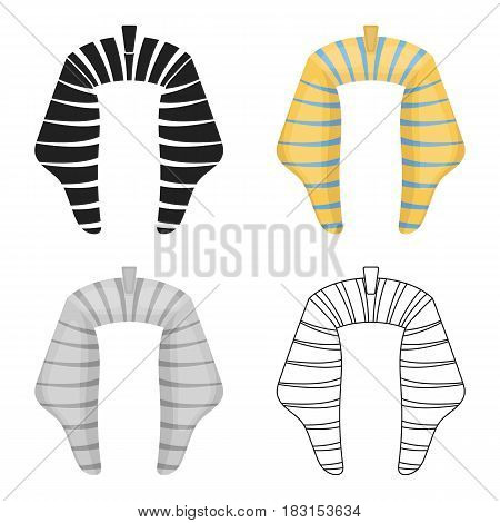 Nemesi con in cartoon style isolated on white background. Hats symbol vector illustration.