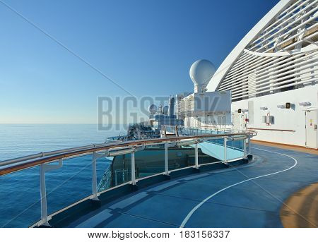Jogging Track On Cruise Ship