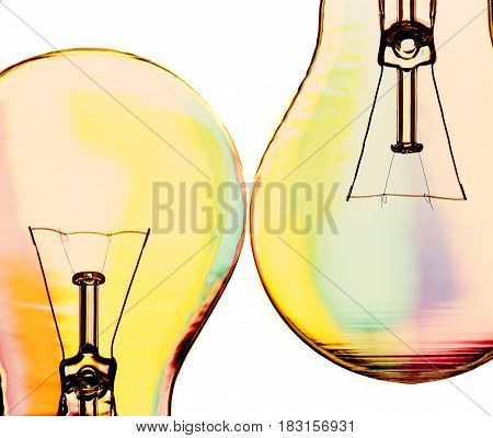 the bulb costing on a color background
