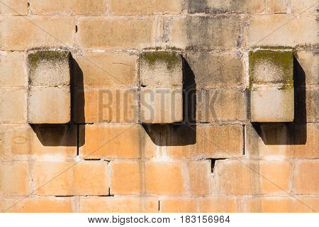 Maltese Stone Wall Building Detail