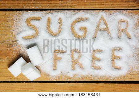 a sugar free word with background - food