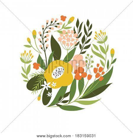 floral illustration, greeting card design
