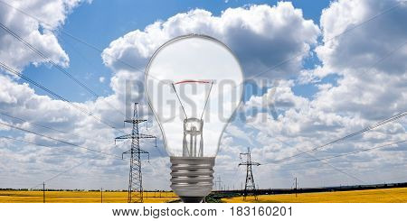 Bulb on a background of the sky