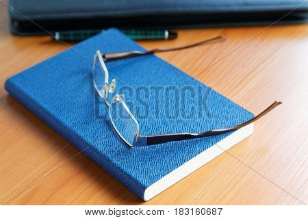 Business Still Life With Glasses And Diary