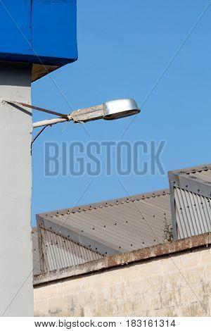 Streetlight In An Industrial Area