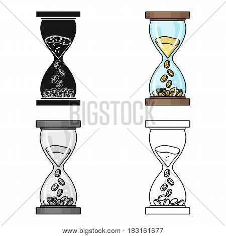 Time Is Money icon in cartoon style isolated on white background. Money and finance symbol vector illustration.