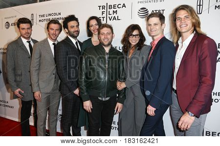 NEW YORK-APR 22: (L-R) The cast of 'Permission' atttends the screening at SVA Theatre during the 2017 TriBeCa Film Festival on April 22, 2017 in New York City.