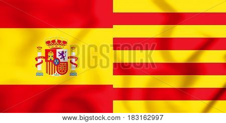 Flags_of_spain_and_catalonia_1_x_2_state