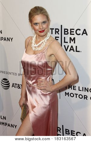 NEW YORK-APR 22: Model Sarah Herpich attends the 'House Of Z' screening at SVA Theatre during the 2017 TriBeCa Film Festival on April 22, 2017 in New York City.