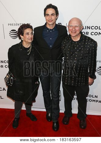 NEW YORK-APR 22: (L-R) Susan Posen, Zac Posen and Stephen Posen attend the 'House Of Z' screening at SVA Theatre during the 2017 TriBeCa Film Festival on April 22, 2017 in New York City.