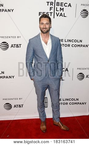 NEW YORK-APR 22: Ryan Eggold attends the 'Literally, Right Before Aaron' screening at SVA Theatre during the 2017 TriBeCa Film Festival on April 22, 2017 in New York City.