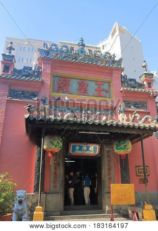 HO CHI MINH CITY VIETNAM - NOVEMBER 29, 2016: Unidentified people visit Emperor Jade Temple. Emperor Jade Temple was built by the Chinese community in 1911