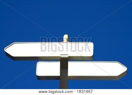 two blank information signs ready for your text poster