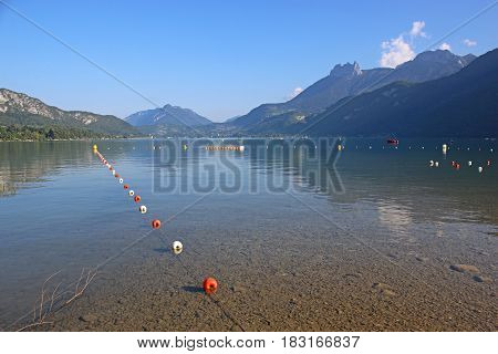 still waters of Lake Annecy in France