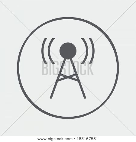 Antenna icon. Transmitter sign isolated on white background .