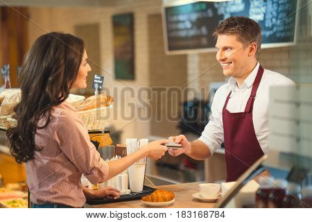 Young people in bakery