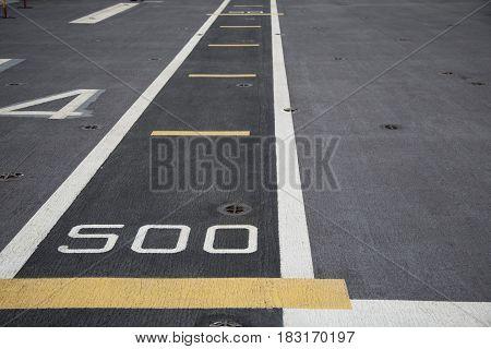 Runway on the deck an aircraft carrier