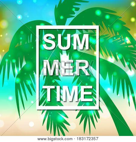 Hello summer. Season. The sun. Hot. For your design.