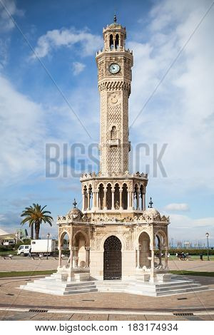 Konak Square Street View With Historical Clock Tower