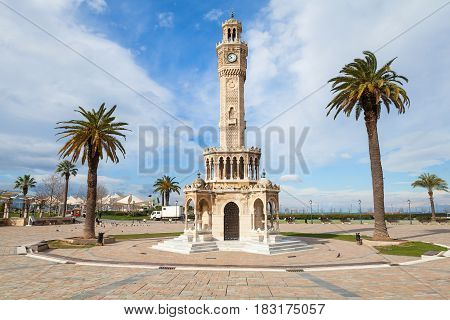 Izmir City, Turkey. Old Clock Tower