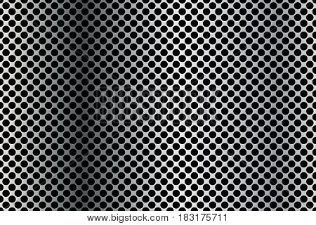 Background sheet of metal covered with round holes.