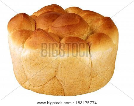 Bread costing isolated on a white background