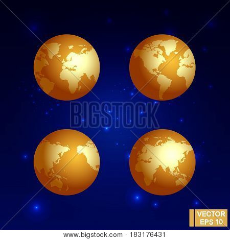 Golden Globe Against The Stars
