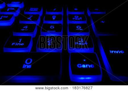 Keyboard With Light Buttons