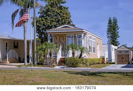 Mobil home located in the state of Florida near Clearwater Beach