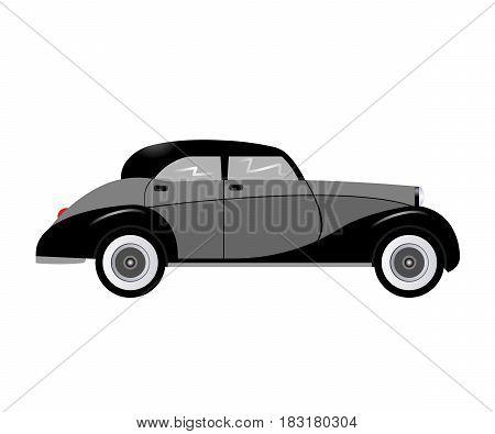 retro car isolated on white background. Vector illustration. Eps 10