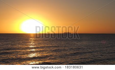 Cruise ship at sunset Port Phillip Bay, Australia 2017