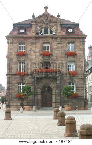 front view of a historic building, speyer, germany poster