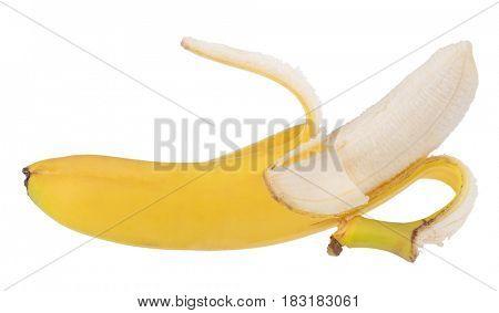 yellow banana isolated on white background