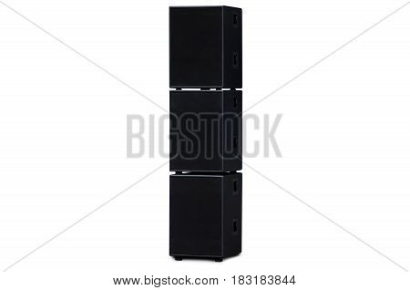 Columns black variety on a white background isolation