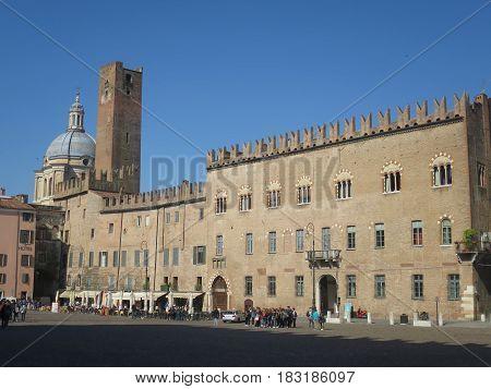Palace of Bonacolsi Mantova Lombardia Italy Palace of Bonacolsi Mantova Lombardia Italy