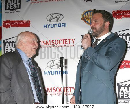LOS ANGELES - APR 23:  Ed Asner, Ben Affleck at the 1st Annual AutFest International Film Festival at AMC Orange 30 on April 23, 2017 in Orange, CA