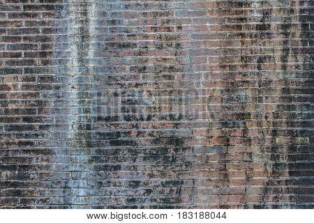 Old Black Brick Abstract. Brick Wall Background. Grunge Brick Wall Texture. Dark Grey Brick Wall. Br