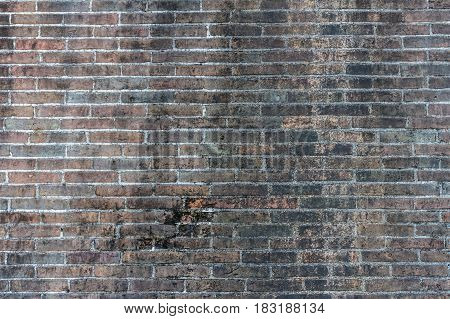 Old Black Brick Abstract. Brick Wall Background. Grunge Brick Wall Texture. Dark Grey Brick Wall. Br