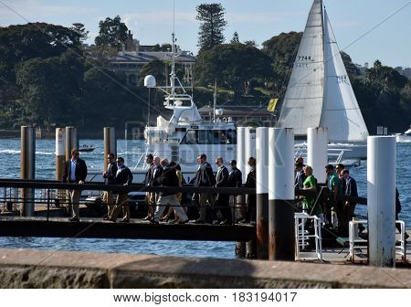 Sydney Australia - Apr 23 2017. Mike Pence the vice president of the United States at Sydney Opera House.