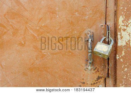 padlock key lock door background and copy space
