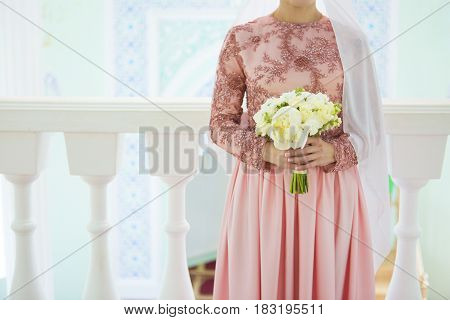Muslim Bride Preparing For Wedding