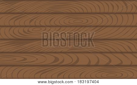 Wooden texture of the boards. Wooden background. Vector illustration