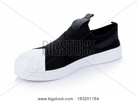 Closeup Classic sneakers isolated on white background