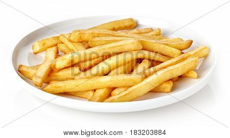 Dish Of French Fries Isolated On White