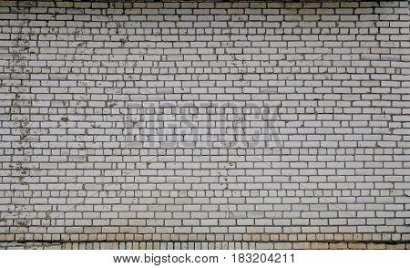 Wall Of White Silicate Brick