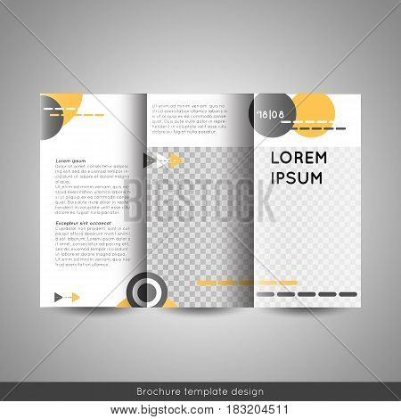 Tri fold business or educational brochure template design. Stock vector.