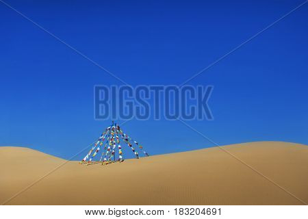 Bright Flags In The Desert