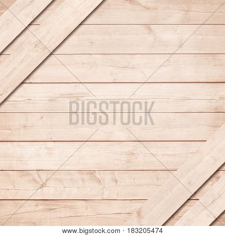 Side of brown wooden crate, box with diagonal planks.