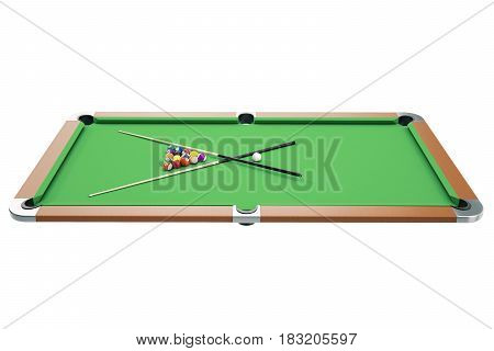 3D illustration American pool snooker balls background. American Billiard. Bar game. Billiard table game.